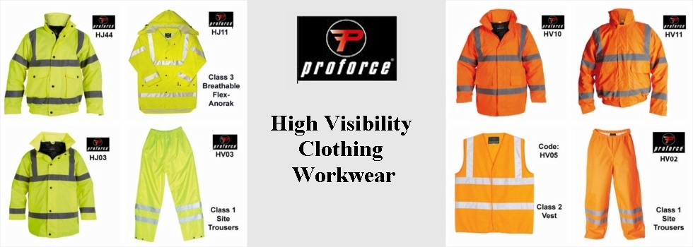 NOV 15 PROFORCE HIGH VISABILITY CLOTHING