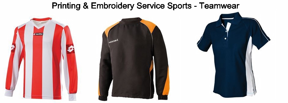 A SPORTS TEAM WEAR  PRINTING AND EMBROIDERY SERVICE